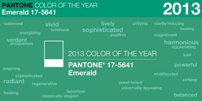 Emerald is this year's colour!