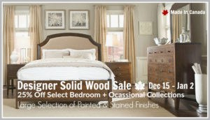 Designer Solid Wood Sale : 25% Off!