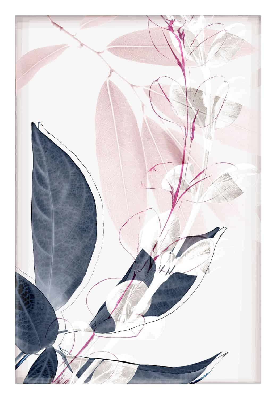 Indigo & Blush Overlay II Print