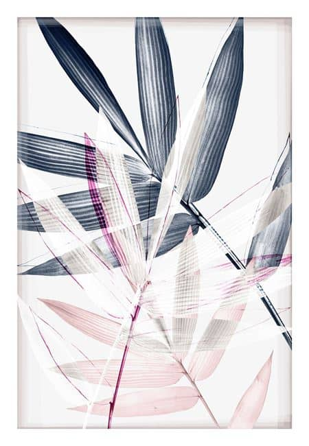 Indigo & Blush Overlay III Print
